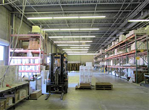 ACS International's expansive production facility is impressive.